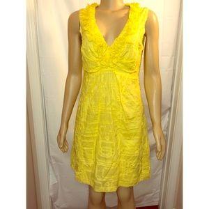 Tiana B Women's Sz 8 Yellow Floral Appliqué Dress